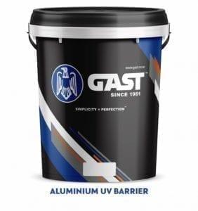 silver aluminium uv barrier bucket
