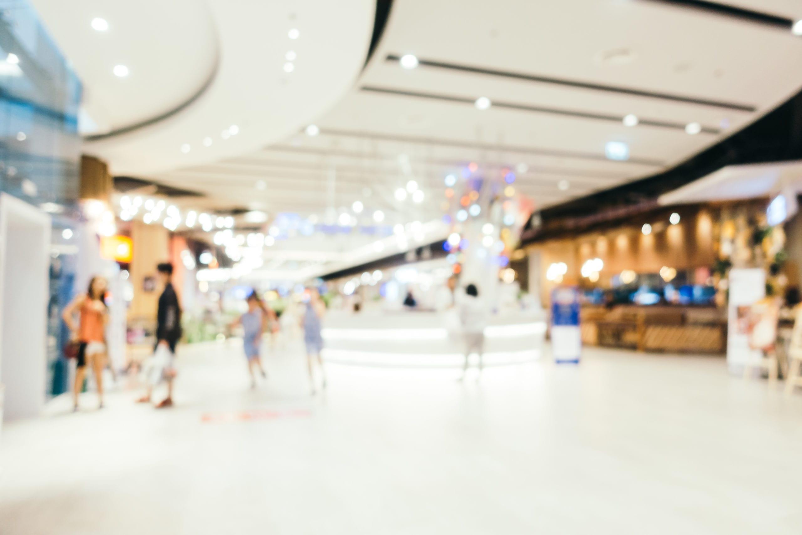 blurred shopping mall