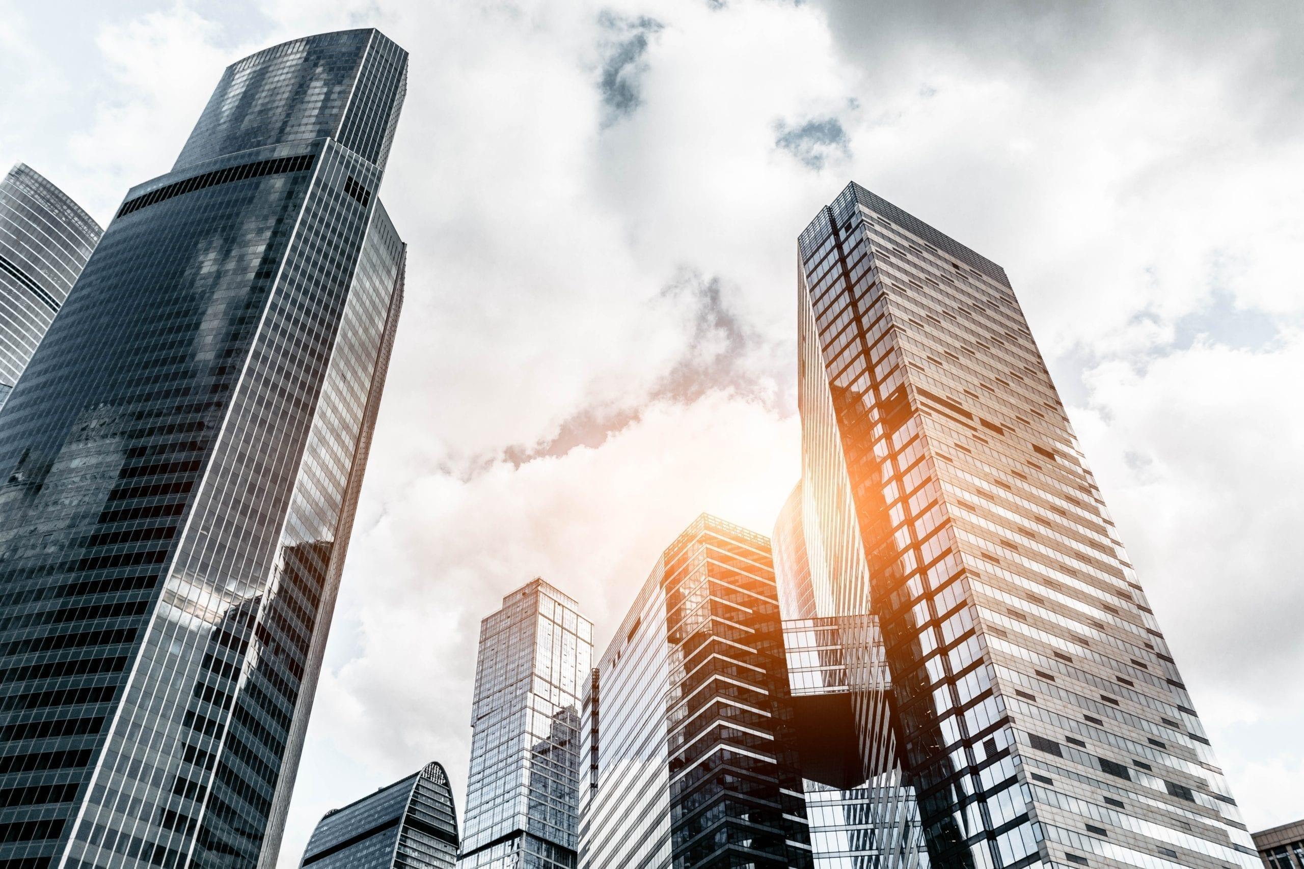 skyscrapers from below